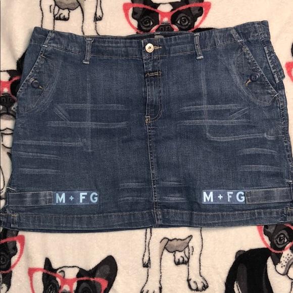 c2442641 Marithe Francois Girbaud Skirts | Denim Skirt With Tape | Poshmark